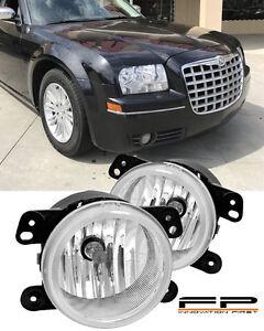 2005-2010 Chrysler 300 Touring Fog Lights Clear Lens 3.5L Front Bumper Lamp PAIR