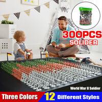 300pcs/Set Military Model Play Toy Soldier Army Men 3-3.5cm Action Figures Decor