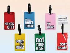 Novelty Bright Coloured Luggage Labels Name Address Suitcase / Bag - Tags Rubber