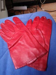 Geschmeidig rote Damen-Lederhandschuhe
