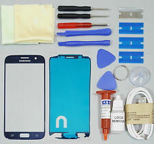 Samsung Galaxy S6 Replacement Screen Front Glass Repair Kit BLUE