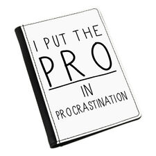 I Put The Pro In Procrastination Passport Holder Cover Case Wallet - Funny Lazy