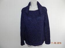 EUC Josephine Chaus cardigan sweater Purple with silver threads size M Women's