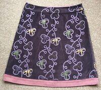 White Stuff Burgundy/Purple Skirt UK Size 14 Lovely Embroidery Pattern