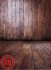 DARK BROWN WOOD BACKDROP WALLPAPER BACKGROUND VINYL PHOTO PROP 5X7FT 150x220CM