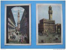 carte postale ancienne de Florence : peinture des offices et galerie Royale