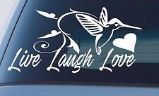 LIVE LAUGH LOVE STICKER DECAL BIRD HEART GIRLS CAR 4x4 WINDOW WALL 200mm
