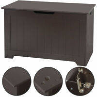 Chest Storage Trunk Wood Bedroom Large Box Blanket Books Shoes Toys Wooden