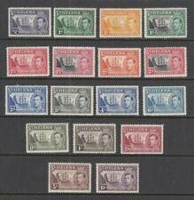 St Helena KGVI 1938 -1944 fine mint set SG 131 -  SG151