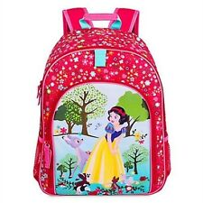 Disney Store Snow White Backpack School Book Bag Princess Tote Animals Flowers
