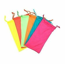 6-12 Pair Microfiber Bag Pouch for Sunglasses Cleaning Soft Case for Eyeglasses