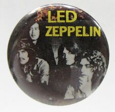 "1970's LED ZEPPELIN b&w group photo 1.25"" diameter pinback button"