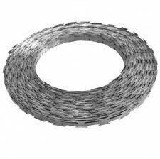 La OTAN alambre de púas 100 M Acero con envase de plástico Concertina Rollo de alambre de espino