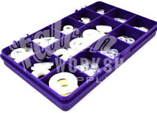 450 ASSORTED WHITE NYLON A2 STAINLESS FORM A WASHERS M3 M4 M5 M6 M8 M10 KIT