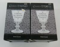 Game Of Thrones (Drink And Know) Glass Wine Boxed (275ml) 2 PACK RRP £14 EACH
