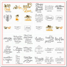 Wishes Words Mixed Metal Cutting Dies Stencil Handmade Crafts Paper Card Making