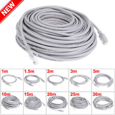 1m 5m 10m 20m 30m RJ45 Ethernet Network Lan Cable High Speed 100M PC Router Lot