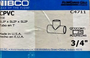 3/4 inch Cpvc Tee New Nibco 5 count