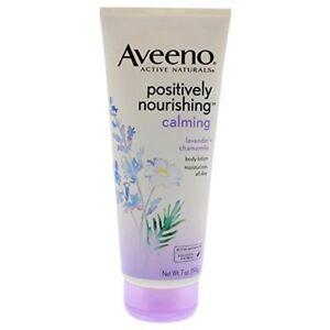 Aveeno Positively Nourishing Lavender & Chamomile Calming Lotion, 7 oz (9 Pack)
