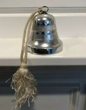 """Reuge Musical Silver Plated Bell Christmas Music Bell """"Silent Night"""" Swiss Made"""