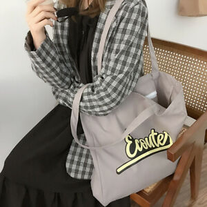 Women's Totes Heavy Duty Cotton Canvas School Shopping Grocery Hand Bags Purses