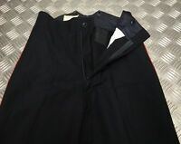 Genuine Vintage British Military No1 RM Red Stripe Dress Trousers Zipper Front