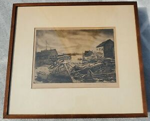 """Signed Original Etching Aquatint Joesph Margulies """"AFTER THE STORM"""""""