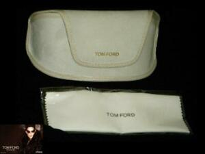 TOM FORD EYEGLASSES OR SUNGLASSES WHITE SOFT LEATHER CASE PROTECTOR MEDIUM SIZE