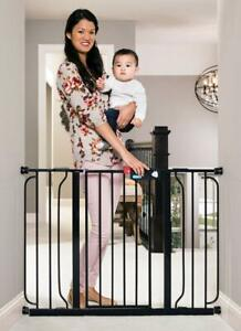 """Regalo Easy Step 49-Inch Extra Wide Pet Baby Gate Pressure Mount 30"""" Tall, Black"""