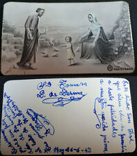OLD BLESSED SACRED FAMILY HOLY CARD YEAR 1943    SEE MORE IN MY EBAY SHOP CC1512