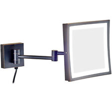 Wall Mount Bath Makeup Shaving Chrome Mirrors 3X Magnitication, Hardwired/Plug