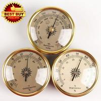 3Pcs Barometer Weather Forecast Station 72x33mm Hygrometer Thermometer Gauges Ne