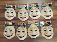 Lot of (8) Vintage Creepy Man Guy Smiling Rubber Face Masks Halloween