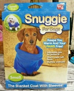 NEW IOB  Size Small New Blue SNUGGIE For Dogs