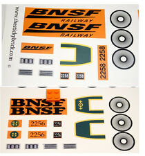 Custom BNSF Engine train stickers for LEGO 10133 Burlington Northern Santa Fe