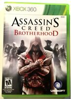 Assassins Creed Brotherhood XBOX 360 Ubisoft Video Game Disk w Case Works A26-13