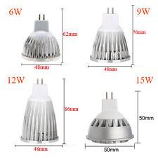 6W 9W 12W 15W Dimmable MR16 GU10 E27 E14 LED Spotlight COB High Power Light Lamp