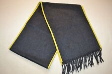 Paul Smith Mens Cashmere Scarf Nappa Leather Trim New