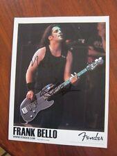 Frank Bello 8X10 photo Autographed