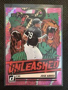 2021 Donruss Baseball Pink Fireworks Unleashed Jose Abreu UNL10 White Sox