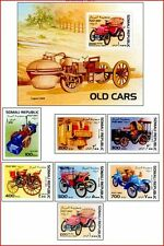 SOM97102 Old cars 7 pcs and block