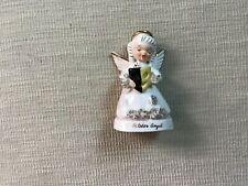 Vintage Lefton Birthday Month October Angel Firgurine #A1370 glossy finish