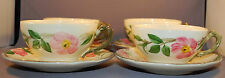 FOUR FRANCISCAN DESERT ROSE CUPS AND SAUCERS Excellent Condition