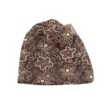 Womens Ladies Baggy Beret Knit Knitted Braided Beanie Hat Ski Cap Coffee