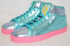 REEBOK T-RAWW WMNS Sneakers Gr.40 UK 6,5 Emerald/solar green pink Metal look