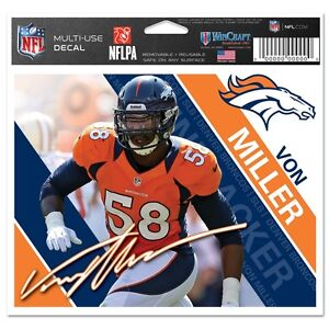 Von Miller # 58 Denver Broncos Multi Use Decal