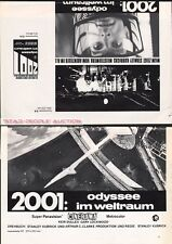 STANLEY KUBRICK - 2001  A SPACE ODYSSEY 1968 * RARE ORIG GERMAN PRESS ADVISER
