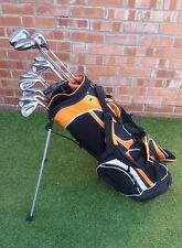 Set complet pour Homme Clubs De Golf Fers Driver 3 & 5 Bois Putter Support Sac