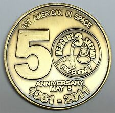 N601    NASA  SPACE  COIN /  MEDAL, 50th ANNIVERSARY OF 1st AMERICAN in SPACE