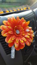 VW GERBERA 13cm Deep Orange FLOWER, GEM CENTRE & SNOWFLAKE VW BEETLE  DASHBOARD